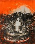 Georgie Flood: Aura, 2011, Oil and acrylic on panel, 50 x 40 cm